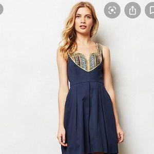 🌷Anthropologie satine embellished dress